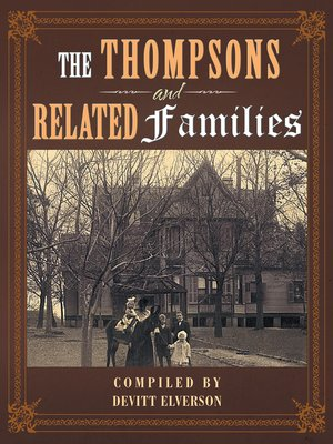 cover image of The Thompsons and Related Families
