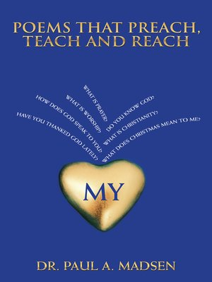 cover image of Poems That Preach, Teach and Reach