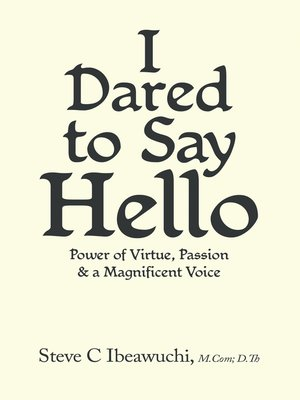 cover image of I Dared to Say Hello
