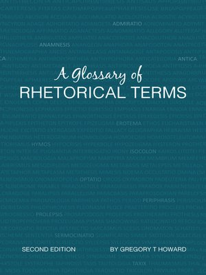 cover image of A Glossary of Rhetorical Terms