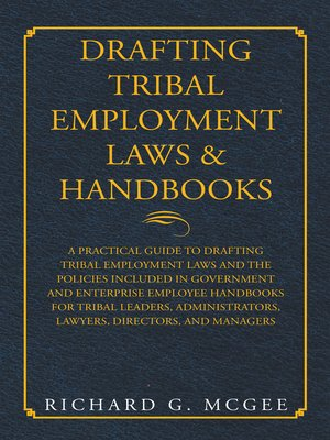 cover image of Drafting Tribal Employment Laws & Handbooks