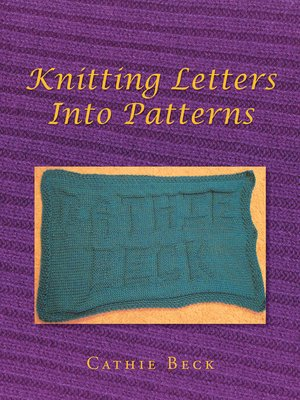 cover image of Knitting Letters into Patterns