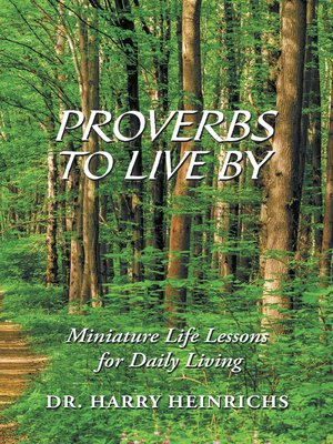 cover image of Proverbs to Live By