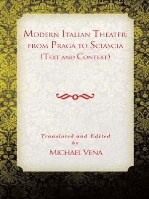 cover image of Modern Italian Theater