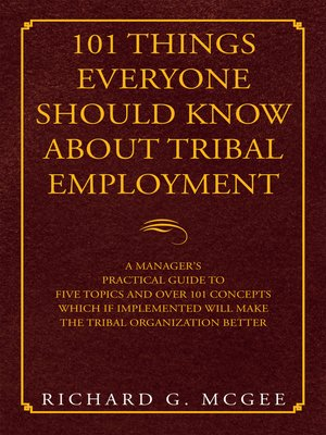 cover image of 101 Things Everyone Should Know About Tribal Employment