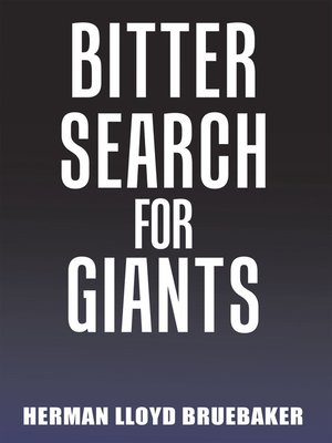 cover image of Bitter Search for Giants