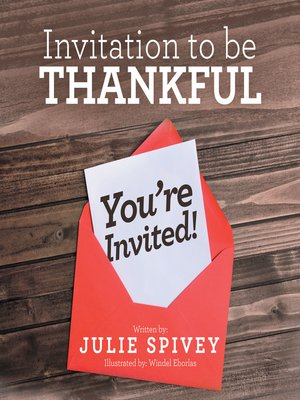 cover image of Invitation to Be Thankful