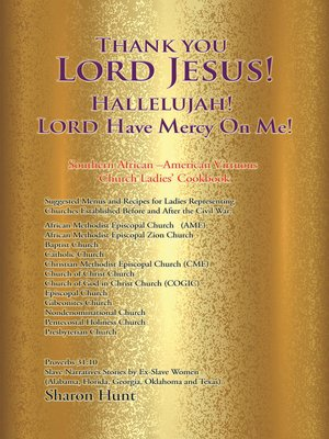 cover image of Thank You Lord Jesus! Hallelujah! Lord Have Mercy on Me!
