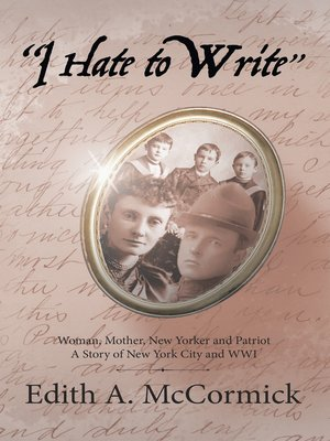 """cover image of """"I Hate to Write"""""""