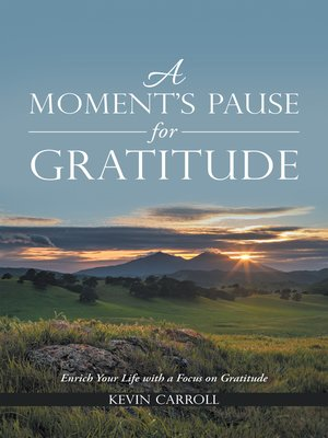 cover image of A Moment's Pause for Gratitude