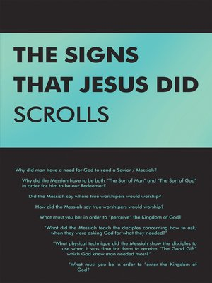 cover image of The Signs That Jesus Did Scrolls