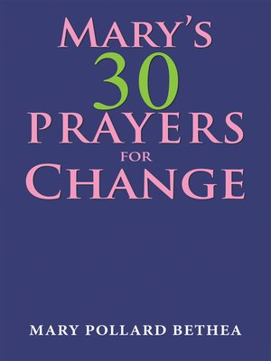 cover image of Mary's Thirty Prayers for Change