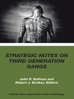 cover image of Strategic Notes on  Third Generation Gangs