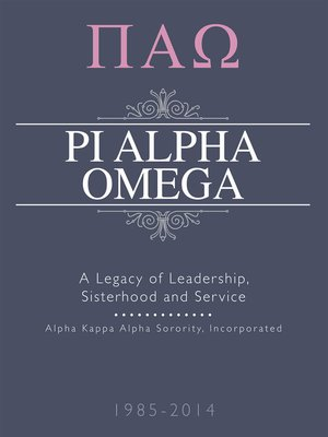 cover image of Pi Alpha Omega