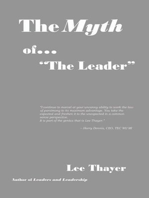 cover image of The Myth of ''The Leader''