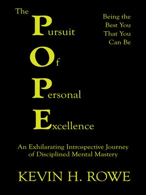 cover image of The Pursuit of Personal Excellence