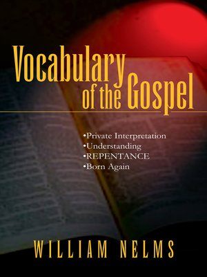cover image of Vocabulary of the Gospel