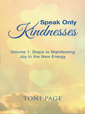 cover image of Speak Only Kindnesses