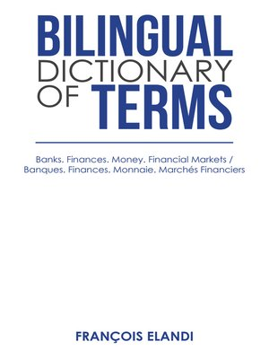 cover image of Bilingual Dictionary of Terms
