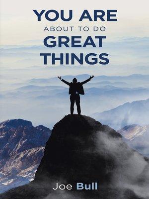 cover image of You Are About to Do Great Things
