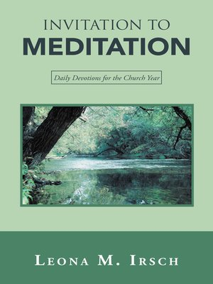 cover image of Invitation to Meditation