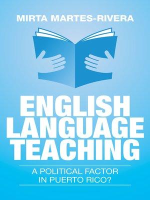 cover image of English Language Teaching