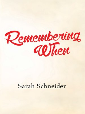 cover image of Remembering When