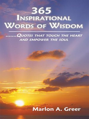 cover image of 365 Inspirational Words of Wisdom