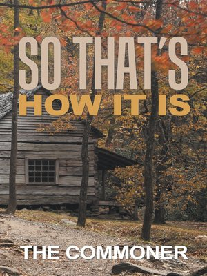 cover image of So That'S How It Is