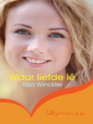 cover image of Waar liefde lê