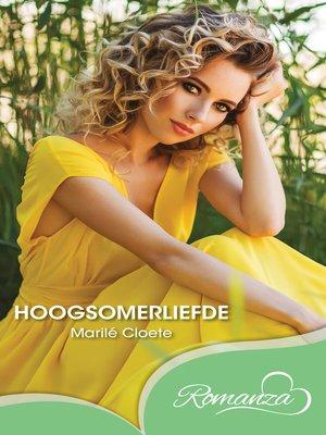 cover image of Hoogsomerliefde