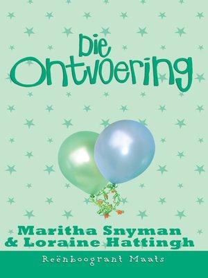 cover image of Die ontvoering