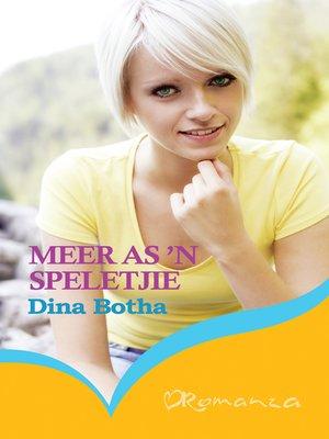 cover image of Meer as 'n speletjie