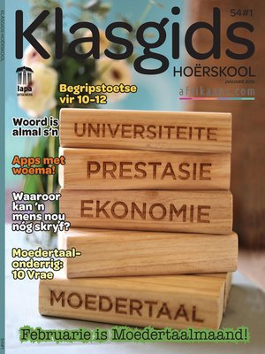 cover image of Klasgids Januarie 2019 Hoërskool
