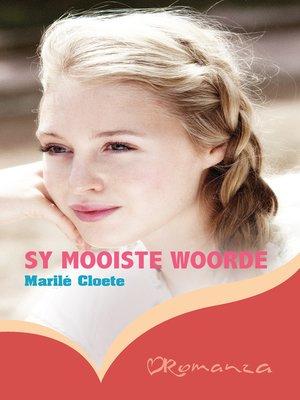 cover image of Sy mooiste woorde