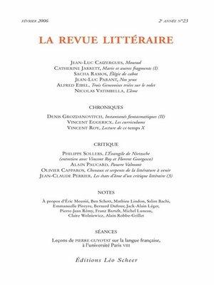 cover image of La Revue Littéraire N°23