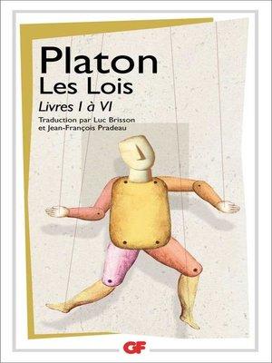 cover image of Les Lois, Livres I à VI