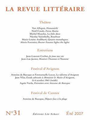 cover image of La Revue Littéraire N°31