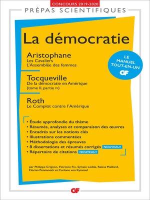 cover image of La démocratie--Prépas scientifiques 2019-2020