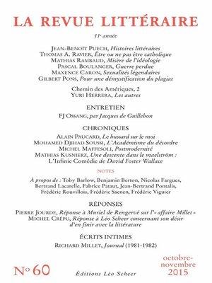 cover image of La Revue Littéraire N°60