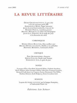 cover image of La Revue Littéraire N°12
