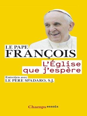 cover image of L'Église que j'espère