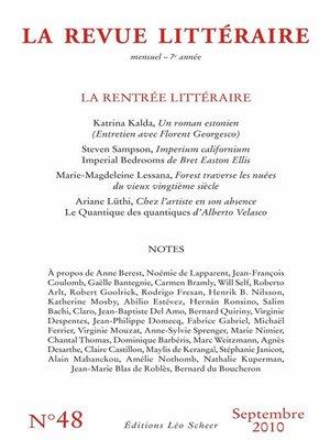 cover image of La Revue Littéraire N°48