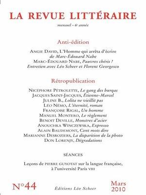 cover image of La Revue Littéraire N°44