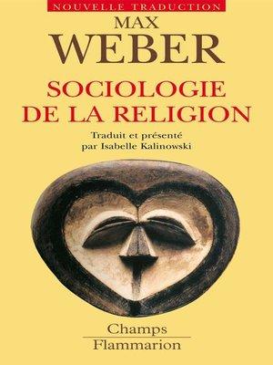 cover image of Sociologie de la religion