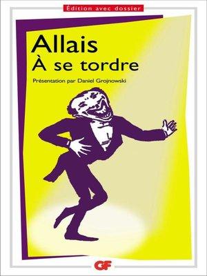 cover image of À se tordre
