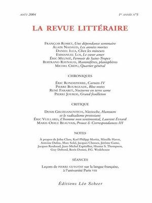 cover image of La Revue Littéraire N°5