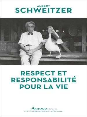 cover image of Respect et responsabilité pour la vie