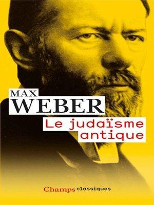 cover image of Le judaïsme antique