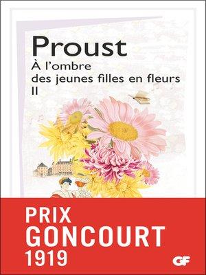 cover image of À l'ombre des jeunes filles en fleurs, Tome 2
